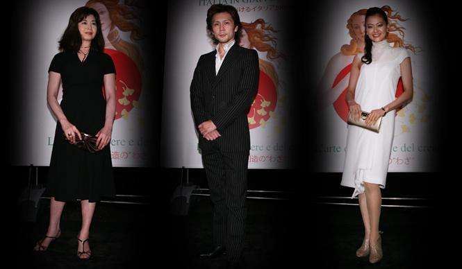 パーティには、サルヴァトーレ フェラガモのドレスをまとった女優黒谷友香さんや石田えりさん、バレエダンサーの熊川哲也さんも駆けつけた。