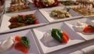 ビュッフェテーブルもイタリアン料理で鮮やかに彩られた。