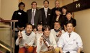 きき酒師チズコ|日本酒ソムリエ 最後にこのプロジェクトにかかわったみんなで記念撮影! キタノホテルの人気「福」支配人小島さん(一番後ろ右から2人目)率いるチーム THE KITANO、前列右は「白梅」自慢の佐藤料理長、本当にお疲れさまでした!