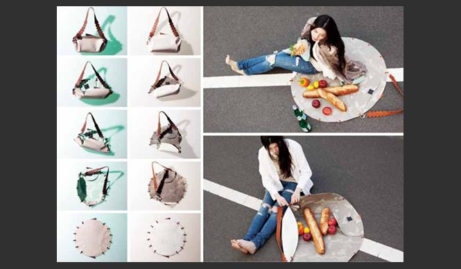 """DESIGNTIDE TOKYO 2010 TIDE Exhibition TIDE Exhibition『curtain』/enamelテキスタイルやグラフィックからデザインしたバッグや洋服、アクセサリーなどのプロダクトを手がけるデザインユニット「enamel.」。今回展示するのは「curtain」。隠したり透かして見せたり……。身につけるものにたとえると""""下着""""のような存在を、空間表現できたらという思いからつくられた。カテゴライズされたものとものの間を浮遊するような、自由のカタチ。"""