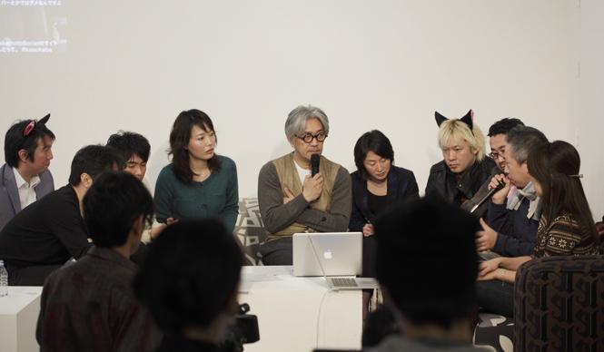 skmtSocial project|サカモト・ソーシャル・プロジェクト  「skmtSocial Meeting」。坂本龍一さん中心にソーシャルと音楽についての楽しいミーティング。ソーシャルの仲間が集まった。