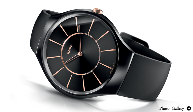 RADO|ケース厚わずか5mm! 世界最薄ハイテクセラミックス素材の腕時計を発表