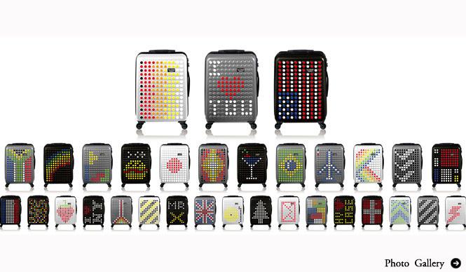 DOTDROPS|デザインをカスタマイズできるスーツケース「DOTDROPS」