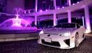 LEXUS GS|レクサス GS 「レクサス スピンドル ナイト」会場より。同乗走行に用いられた、レクサスが誇るスーパースポーツカー LFA