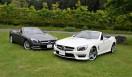 Mercedes-Benz SL550 BlueEFFICIENCY|メルセデス・ベンツSL550ブルーエフィシエンシー手前の白いクルマは、参考展示されていたSL63AMG