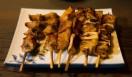 角田陽太|東京浪漫酒場 三軒茶屋「久仁」 みそ焼き。左から子袋、がつ、しろ