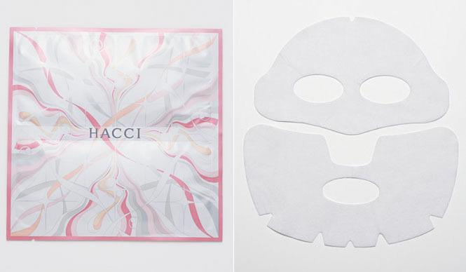 HACCI|乾燥した飛行機内でもずっとうるおう、ブランド初のシートマスク