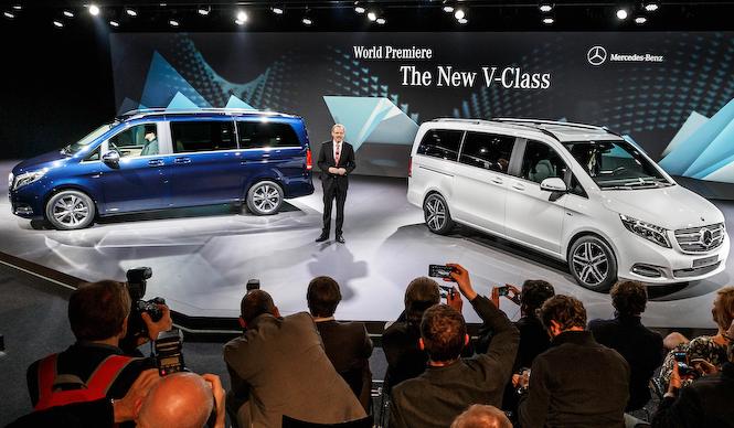 メルセデスのミニバン、新型「Vクラス」発表 Mercedes-benz