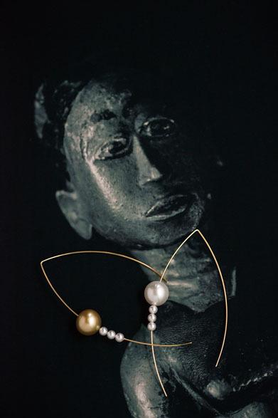 iberi|イベリー 2014年デビューコレクション Balance pierced earrings 8万8000円