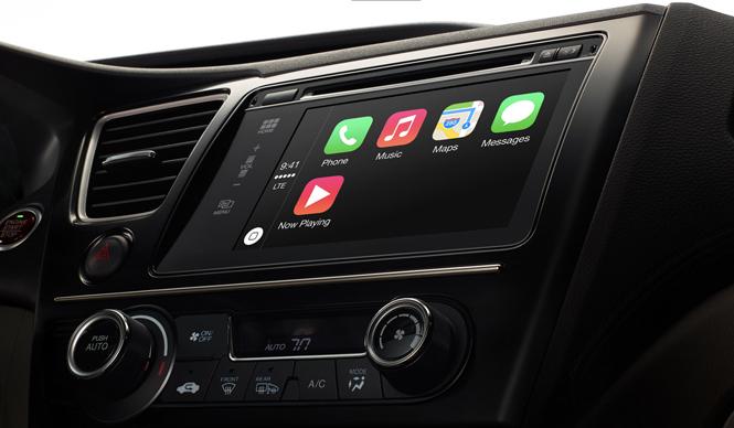 アップルが車載用インフォテイメントシステム「CarPlay」を発表 Apple CarPlay