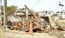 森の学校|C.W.ニコル 震災直後の野蒜(のびる)駅周辺。被災した仙石線は高台を通るルートに変更される