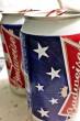 アメリカ国旗が印刷されたバドワイザーを発見