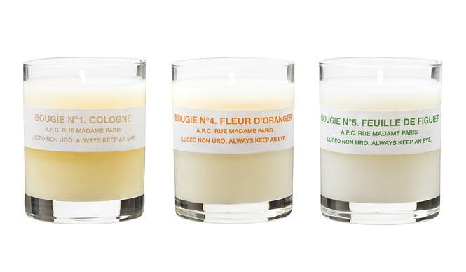 クリスマスプレゼントに3つの香りが楽しめる「ミニキャンドルコフレ」を|A.P.C.