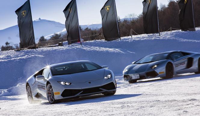 ランボルギーニによる雪氷上のドライビングトレーニング (前編)|Lamborghini
