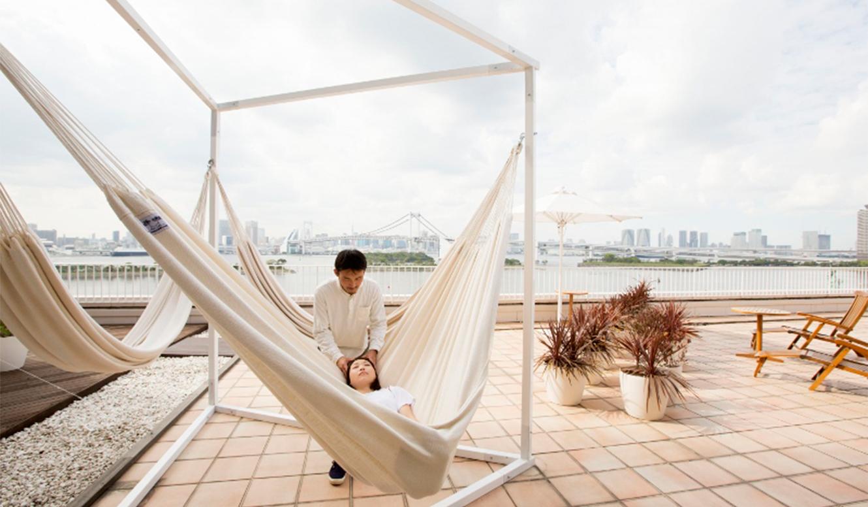 hotel nikko tokyo|潮風が心地いい癒しのハンモックマッサージ