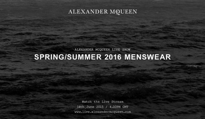 ALEXANDER McQUEEN|2016春夏 メンズコレクションのショーをライブストリーミング