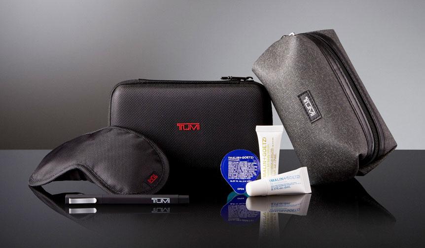 Delta Air Lines|ビジネスクラスの「TUMI」製アメニティキットがアップグレード