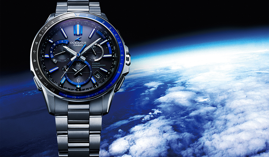CASIO OCEANUS|最新の時刻修正システムで世界の「正確な時」を知る