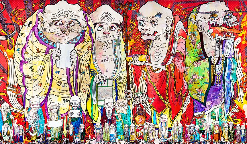 MORI ART MUSEUM|村上隆、14年ぶりの大型個展『村上隆の五百羅漢図展』開催