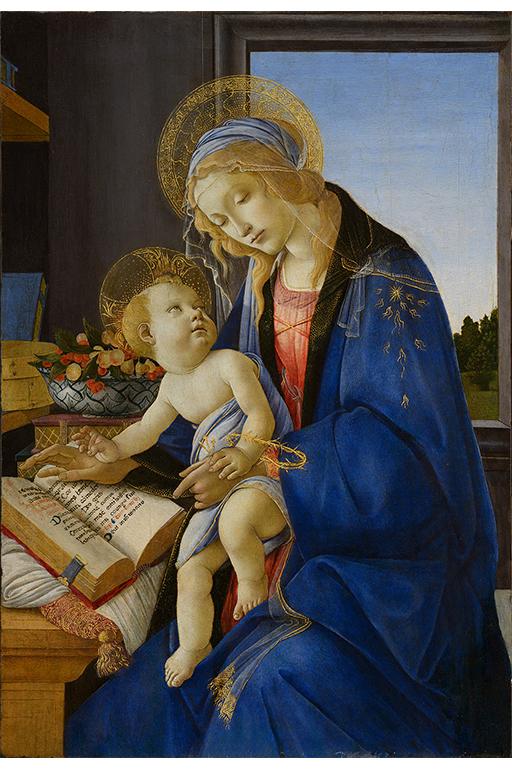 聖母子(書物の聖母) サンドロ・ボッティチェリ ミラノ、ポルディ・ペッツォーリ美術館 © Milano, Museo Poldi Pezzoli, Foto Malcangi