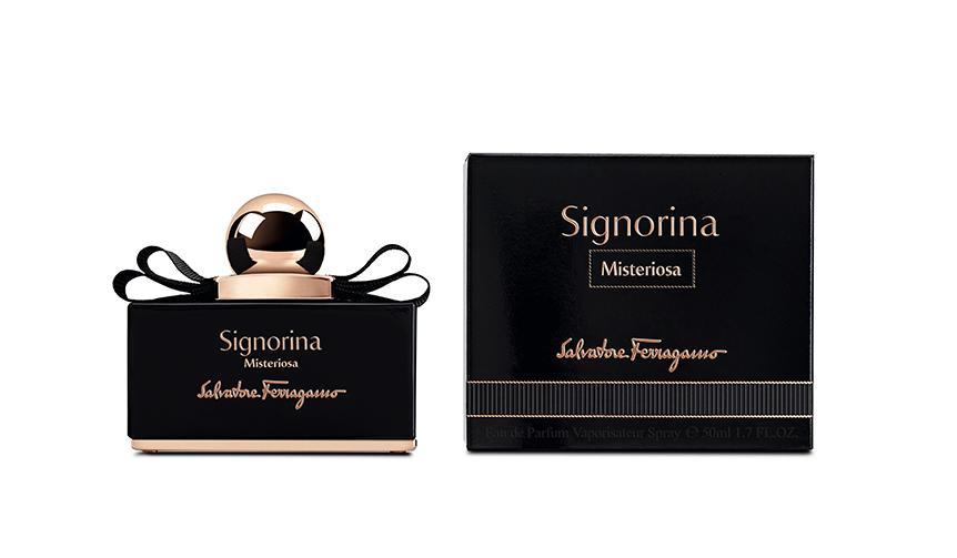 Salvatore Ferragamo|香水「シニョリーナ」の漆黒の美を纏った新バージョン