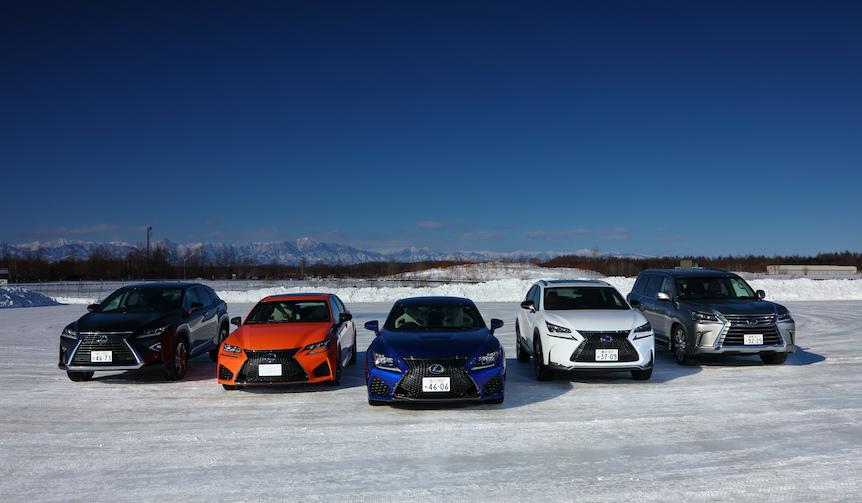 レクサス各モデルに氷雪上で試乗|LEXUS