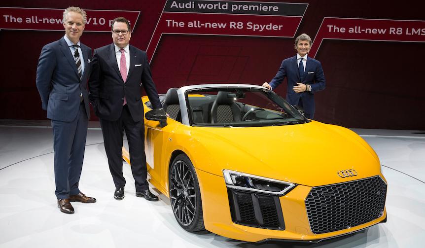 アウディ、「R8スパイダー」をワールドプレアミア|Audi