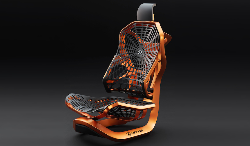 クモの巣を応用したコンセプトシートをパリモーターショーで世界初披露|Lexus