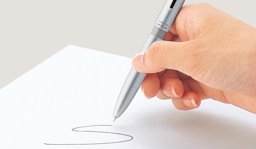 Shachihata|書く、捺すを一本でスピーディーに。ネーム印付き多機能ペン