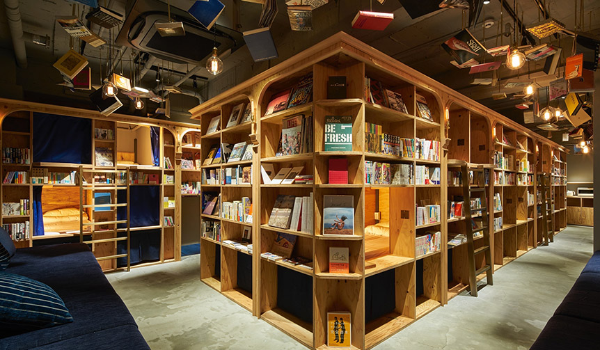 LOUNGE|泊まれる本屋「BOOK AND BED TOKYO 京都店」がオープン
