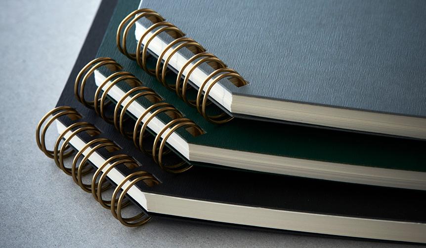 印刷加工連|実用新案取得。ヒット商品「ななめリングノート」がリニューアル