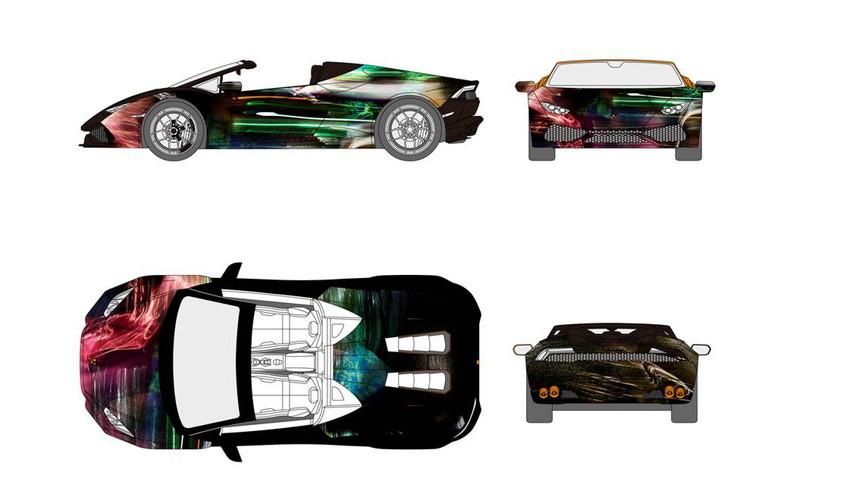 スプツニ子!氏とコラボしたウラカンのアートカーがアートフェア東京に登場|Lamborghini