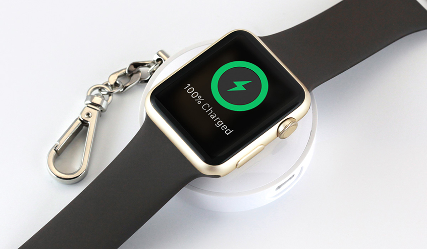 TUNEWEAR|Apple Watchをどこでも充電。キーホルダー感覚のモバイルバッテリー