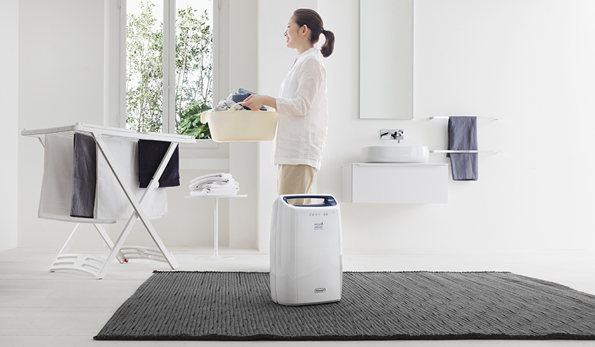 De'Longhi|コンパクトボディに最大級の除湿パワーを搭載した衣類乾燥除湿器