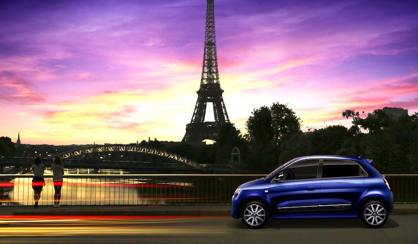 パリの夕暮れをイメージした特別カラーを纏うトゥインゴ|Renault