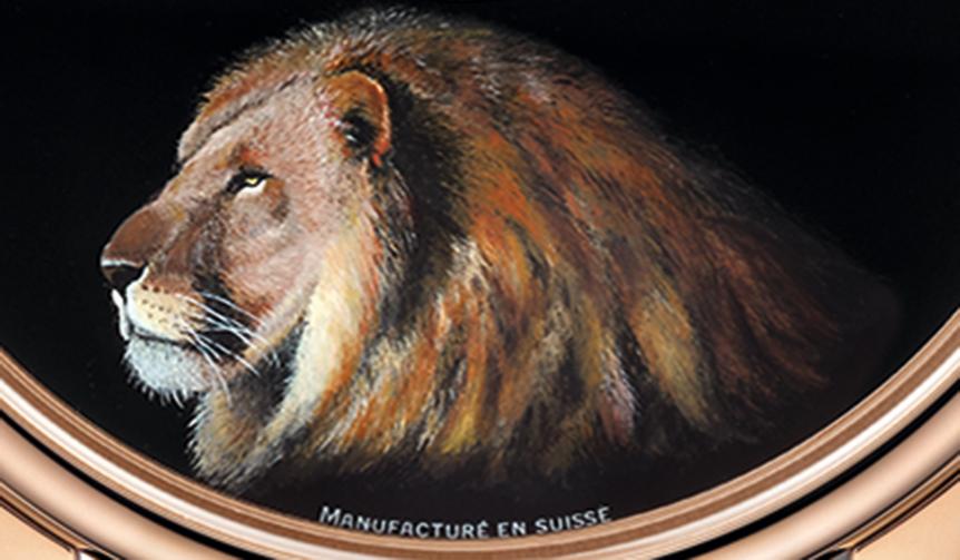 JAQUET DROZ|3種類の動物をモチーフにしたプティ・ウール ミニット ブラックエナメル