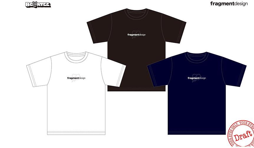 BE@RTEE x  fragment design (logo)。