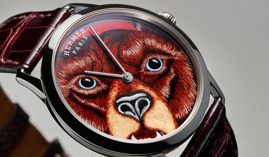 HERMÈS|「スリム ドゥ エルメスGRRRRR!」エルメスの熊が文字盤に収まるっ!