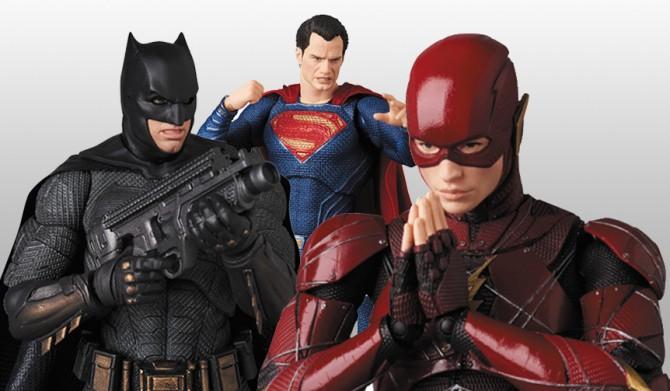 MAFEX  バットマン、スーパーマン、フラッシュ MEDICOM TOY