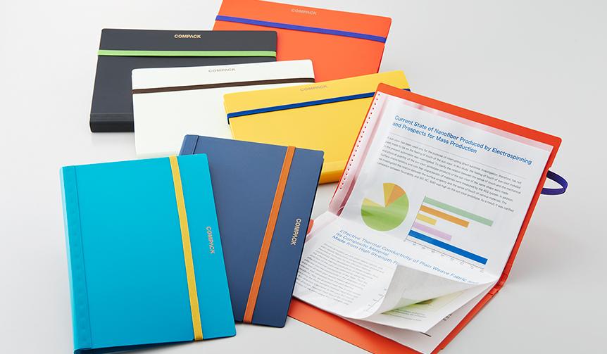 KING JIM|A4サイズの書類を二つ折りにして、快適に持ち運べる「コンパック」