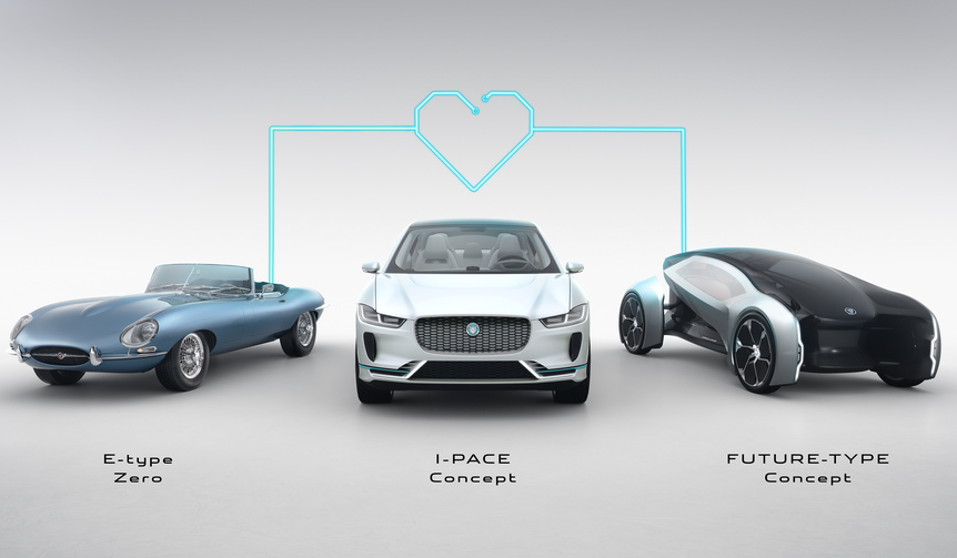 Jaguar E-Type ZERO & Jaguar I-Pace & Jaguar Future Type|ジャガー Eタイプ ゼロ & ジャガー Iペイス & ジャガー フューチャー タイプ