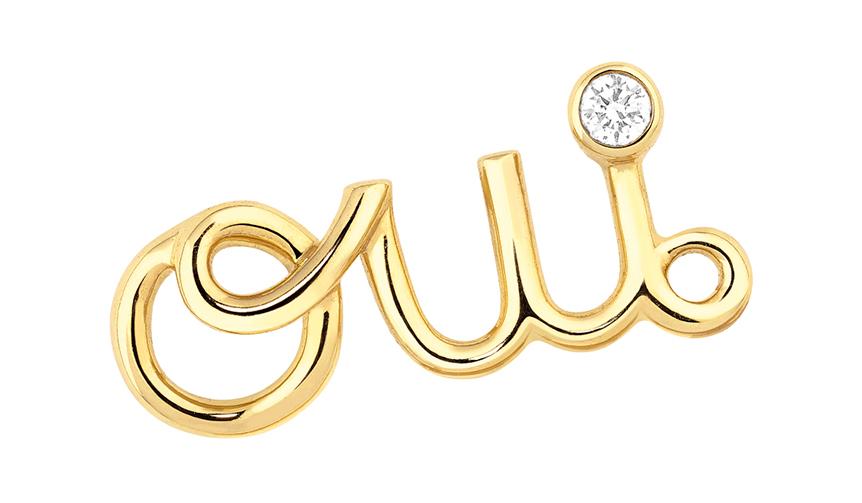 肯定の意思表示「Oui」の文字がキュートに輝くスタッズピアス|DIOR