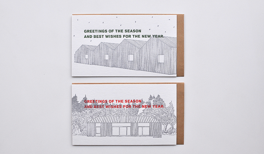 SAB LETTERPRESS|年末年始の挨拶に最適。新作のグリーティングカード