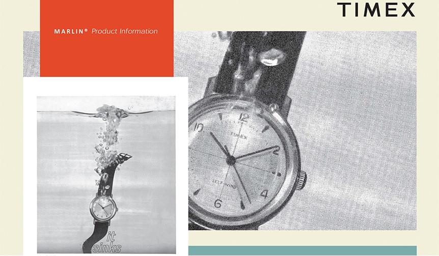 TIMEX|60年の時を経た手巻き式防水時計「マーリン」をタイメックスが復刻