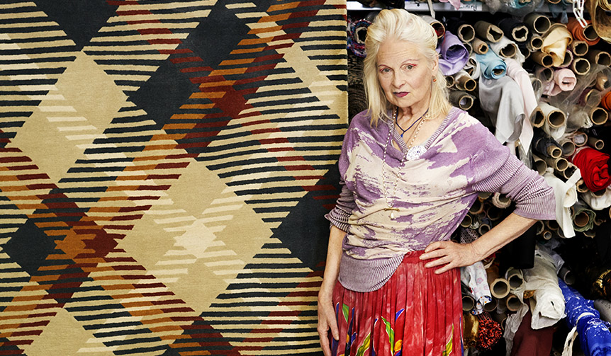Vivienne Westwood|ヴィヴィアン・ウエストウッドがThe Rug Companyの20周年を祝う記念ラグをデザイン