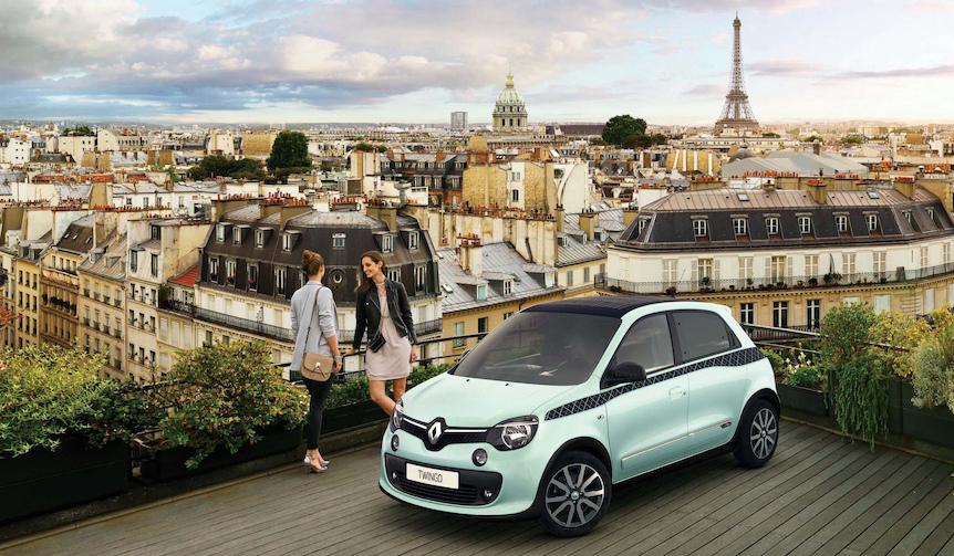 専用カラーとチェックでパリジェンヌをイメージした限定車|Renault