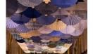 須藤玲子+アドリアン・ガルデール 《Fantasy in Japan Blue》 2017年 ジョン・F・ケネディ舞台芸術センター展示風景