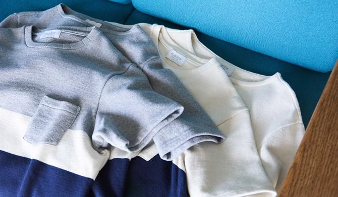 FLISTFIA|春夏にぴったりのボーダー生地。心地良いTシャツとスモールブランケット