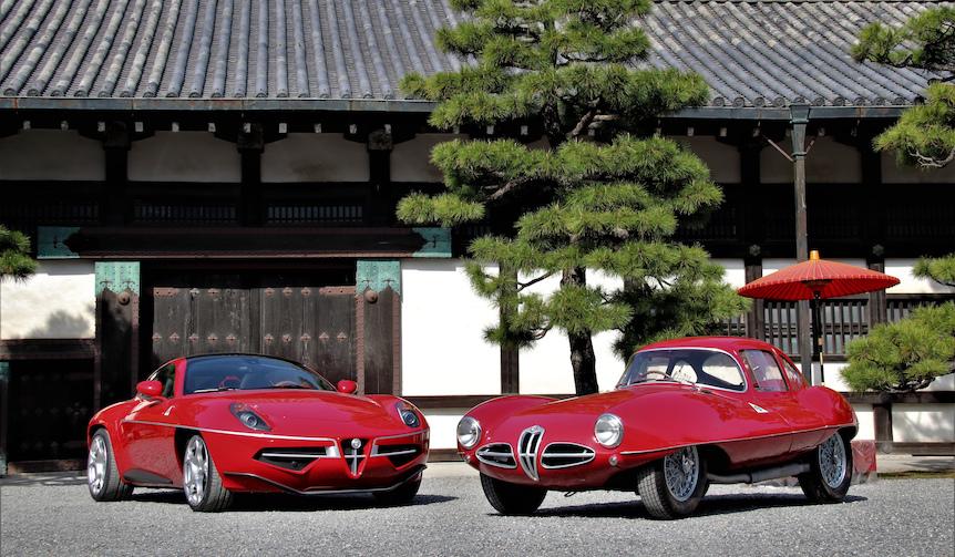アルファ・ロメオ8Cディスコヴォランテ(左)とC52ディスコヴォランテ(右)