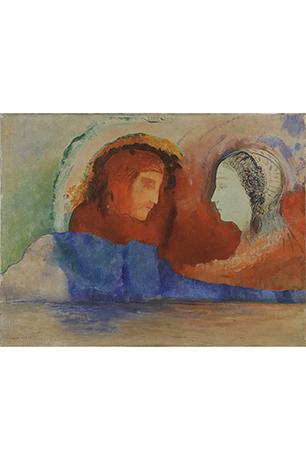 《ダンテとベアトリーチェ》1914年頃 油彩/カンヴァス 上原美術館蔵